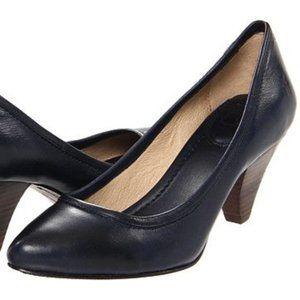 """Frye """"Regina"""" Navy Almond Toe Pump Heel- Sz. 7"""